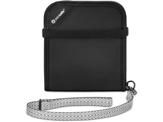 Pacsafe RFIDsafe V100 Bi-Fold Portemonnee, black